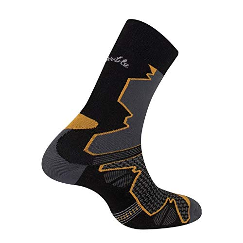 Thyo - Chaussettes Trek Randonnee Double Trek 35/36 - Orange