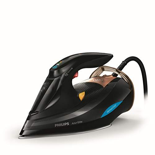 Philips Azur Elite GC5033/80 - Plancha Ropa Vapor sin quemaduras ni necesidad de realizar ajustes de la temperatura, 3000 W, Golpe Vapor 250g, Vapor Continuo 65g, Suela SteamGlide Advanced