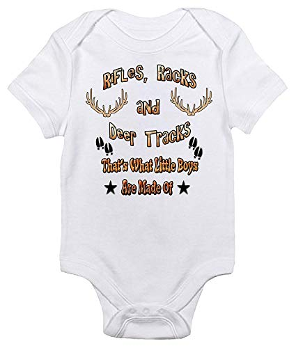 Rifles Racks and Deer Tracks Baby Bodysuit Cute Hunting Baby Clothes for Boys
