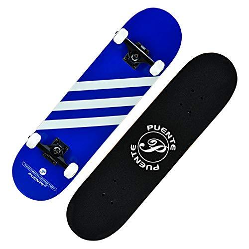 Skateboards de 31 Pulgadas para Adolescentes, niños, 8 Capas de Arce con rodamientos ABEC-9 estándar y patinetas de Trucos para niñas Principiantes Azul