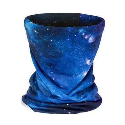 3D Galaxy Blauw Hoofdband Fietsen Multi Functionele Buisvormige Magic Gezicht Masker Tube Ring Sjaal Bandana