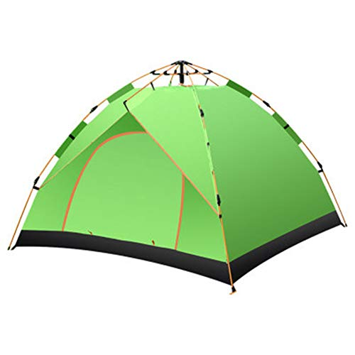 WZP-Camping Tents For Family 3-4 Person, Ultralight Backpacking Tent, Layer Dome Tent, Waterproof & Windproof Layer Suitable for Camping/Beach/Hiking/Backpacking Mountaineering/Fishing Outdoor,Green
