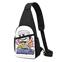 マシュメロ Marshmello ボディバッグ 斜めがけバッグ 男女兼用 チェストバッグ ショルダーバッグ 肩掛けバッグ 軽量 通勤通学 大容量 旅行 IPadmini収納可能