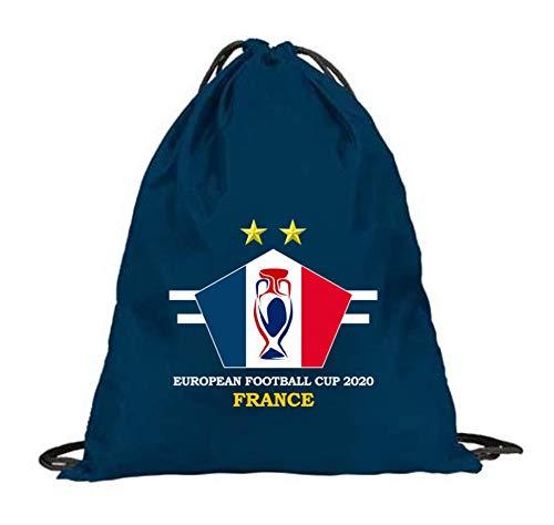 JL - Bolsa de gimnasia con cordón para hombre, diseño de bandera de fútbol