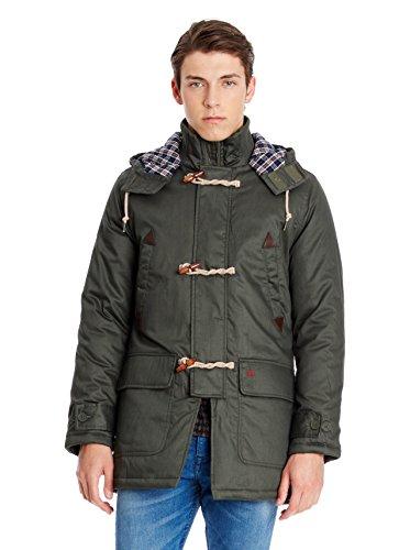 Merc of London Havant, Hooded Parka Mid Length Manteau, Vert (Dark Khaki), Medium (Taille Fabricant: M) Homme