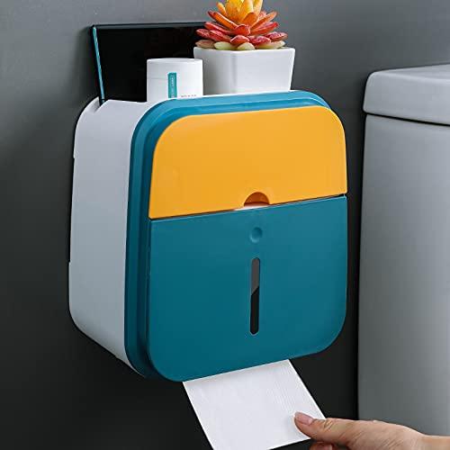 BULABULA Organizador de papel enrollable con soporte para teléfono móvil, resistente a salpicaduras, para pared