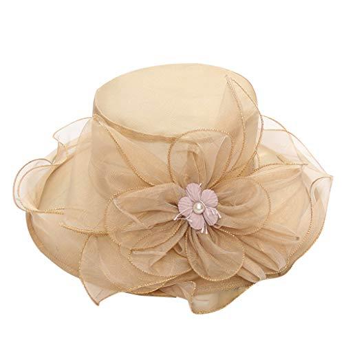 TWIFER Sommer Hut Damen Faltbarer Sun Beach Mütze Party Hochzeit Sonnenhüte Schirmmützen mit Breitem Rand