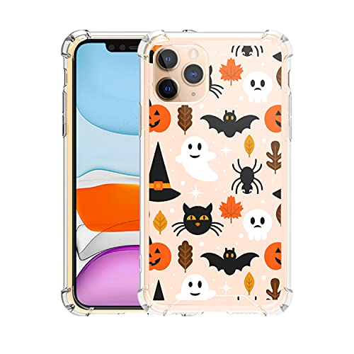 FANXI Halloween Phone Case Compatible with iPhone 11 Pro 5.8 Inch - Shockproof Protective TPU PC Cute Cool Halloween Phone Case Designed for iPhone 11 Pro Case for Women Men