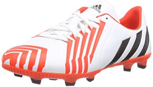 adidas Jungen Predator Absolado Instinct FG Fußballschuhe, Weiß (FTWR White/Core Black/Solar Red), 37 1/3 EU
