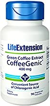 Life Extension Genic Green Coffee Extract Vegetarian Capsules, 90 Count