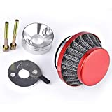 Air Filter with Veloctiy Stack & Choke Plate Replacement for Racing Goped V-Stack Zenoah G23LH G2D 23cc Sport Bigfoot Bladez Red