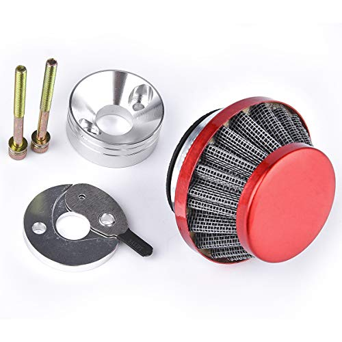 Air Filter with Veloctiy Stack & Choke Plate for Racing Goped V-Stack Zenoah G23LH G2D 23cc Sport Bigfoot Bladez Red