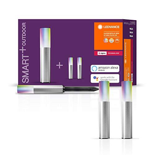 LEDVANCE Smart+ LED Gartenleuchte Mini Erweiterung, ZigBee, warmweiß bis tageslicht, dimmbar, Schutzklasse IP65, 3 Spots, Nur kompatibel mit dem Smart+ Gartenpylone Mini Basispaket
