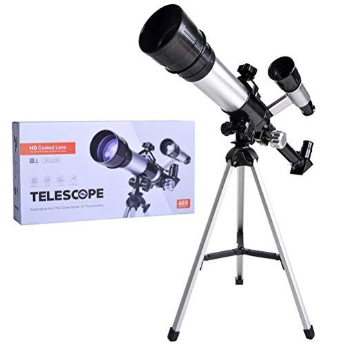 CLFYOU Astronomie Teleskop HD Astronomie-Teleskop für Kinder Erwachsene Anfänger Tragbarer Wissenschaft Monocular-Teleskop Educational Lernspielzeug