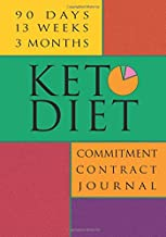Keto Diet Commitment Contract Journal: 90 Day Undated Keto Macro Tracker; Food and Metrics Logbook with Glucose Monitoring (Keto For Beginners and Pros)
