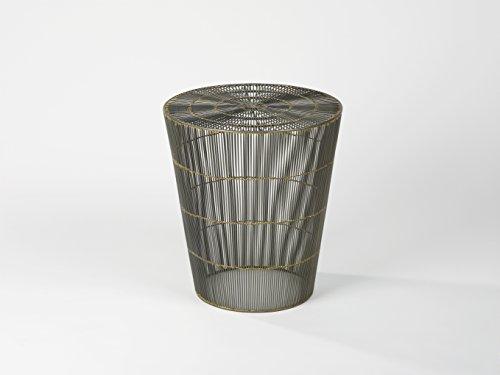 Lambert Thoban Hocker/Beistelltisch, Drahtgeflecht, H47, D43, Metall, Anthrazit, One Size