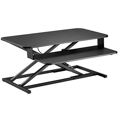 Sit Stand Desk Riser, Stand Up Desks Workstation for Home or Office, Standing or Sitting Desk Convertor Adjustable Height for PC, Laptop, Mac or Gaming