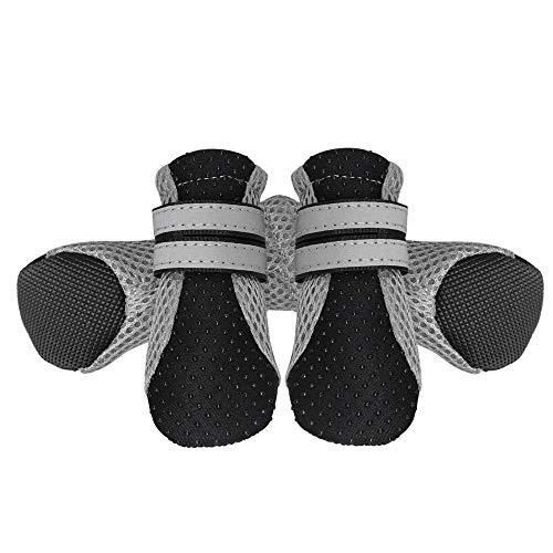 Negro S-3.5 * 3.0 cm PETCUTE Botas Perros Impermeables Protectores Patas para Perro Respirable Zapatos Antideslizantes para Perros Lesiones de Espalda