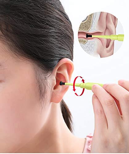 Oorreiniger, oorscheplepel, volwassen kinderen, tweekoppig schroeftype om oorsmeer veilig te verwijderen
