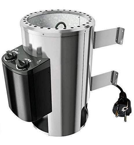 SudoreWell Plug & Play Saunaofen 3,6 kW mit eingebauter Steuerung Plus 18 kg Saunasteine by Karibu®