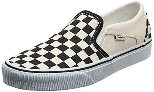 Vans Asher, Sneaker Mujer, Blanco (Checkerboard/Black/White), 37 EU