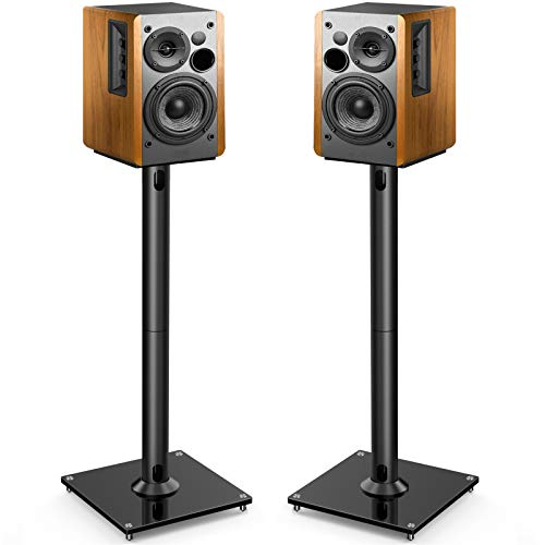 PERLESMITH Universal Floor Speaker Stands 26 Inch for Surround Sound, Klipsch, Sony, Edifier, Yamaha, Polk & Other Bookshelf Speakers Weight up to 22lbs - 1 Pair
