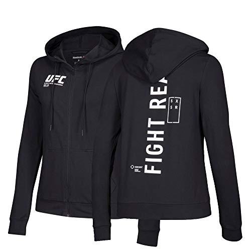 Reebok Full Zip Hoodie UFC Fan Gear-Sudadera con Capucha y Cremallera Completa, Negro, M (Pack de 12) para Mujer