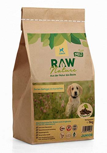 RAW Nature Trockenfutter JUNIOR - Natürlich Kaltgepresst - Getreidefreies Hundefutter - Welpenfutter (5 kg)