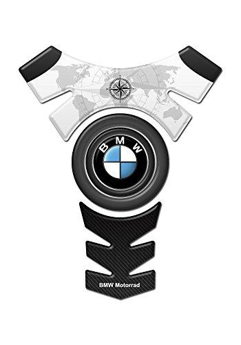 Tankpad Motorad Draht Muster Tankschutz ' BM.W CENTER LOGO schwarz STIL'' Polymer 3D