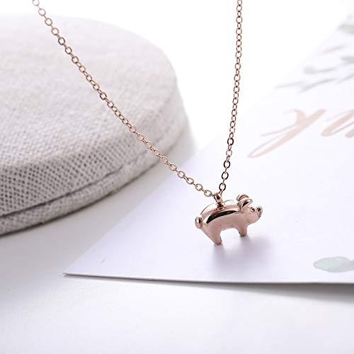 Varken Jaar hot Verkopen Titanium Staal Ketting Vrouwelijke Goud Varken Fu Woord Eenvoudige Mode Persoonlijkheid Varkensketen