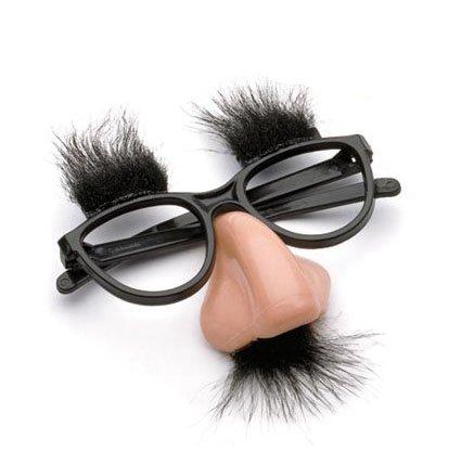 DAYAN Fiesta de Disfraces Halloween Graciosa Máscara Cejas Bigote Nariz Grande Gafas