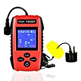 OVETOUR Portable Fish Finder Wired Handheld Sonar Fishfinders, LCD Color Display with Water Depth, Fish Location, Fish Size, Weeds and Rock for Kayak Boat Ice Fishing