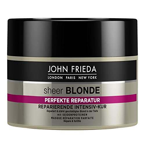 SHEER BLONDE John Frieda Sheer Blonde Perfekte Reparatur Intensiv-Kur für blondes Haar - reparierende Haarkur, 250 ml