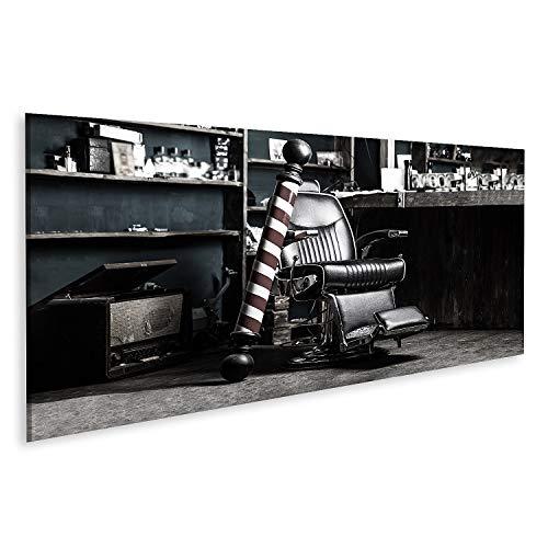 Bild auf Leinwand Logo Barbershop Symbol stilvoll Vintage Barber Stuhl Friseur frisör frisörsalon innen Barbershop Stuhl Barbershop Bilder Wandbild Poster Leinwandbild