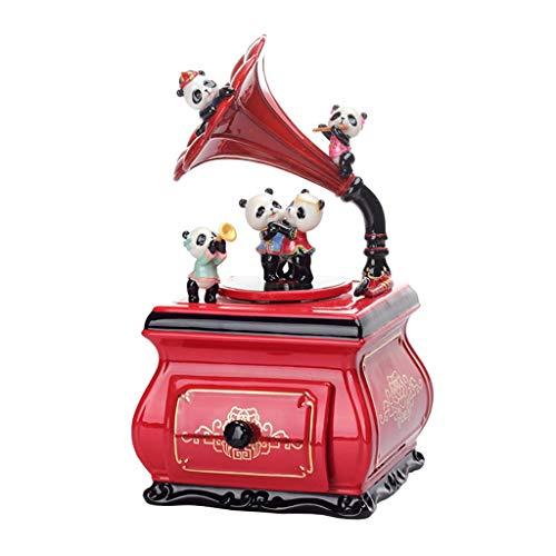 YHshop Regalo di Carillon Panda Music Box fonografo Creative Music Box Regalo/Compleanno/San Valentino, Rosso Carillon