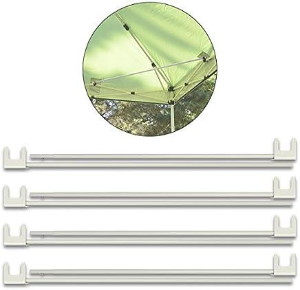 FIELDOOR タープテント スチール/アルミ共用 サイドフレーム補強パーツ 4本セット 簡単取り付け たわみ ゆがみ軽減