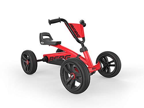 Beg Gokart Buzzy Red Vehículo Infantil, Coche a Pedales, Seguro y Estable, Juguete para niños Adecuado para niños de 2 a 5 años
