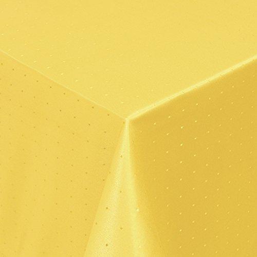 Gastro Punkte Tischdecke Eckig 130x280 cm Dunkelgelb/Gelb - mit Saumrand - Farbe & Größe wählbar