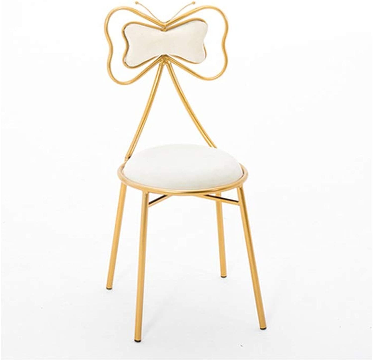 YJWOZ Home Restaurant Bedroom Multi-Function Metal Chair Sponge Back High Rebound Seat Chair 7 color Optional Sitting Height 45CM Chair (color   A)