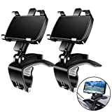 Car Phone Mount, [2 Pack] FONKEN Cell Phone Holder for Car 360 Degree Rotation Dashboard Clip Mount Car Phone Holder Compatible for iPhone 11 13 /12 pro Max 8 8Plus Samsung S10 S9 S8 4