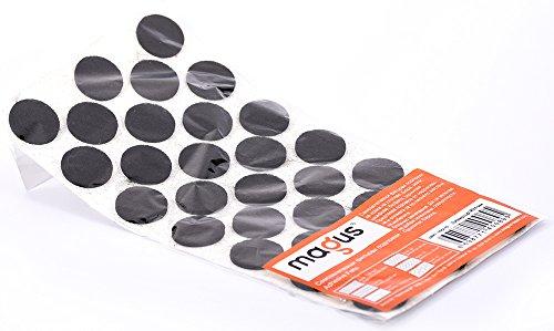 abritus Filzgleiter Möbelgleiter selbstklebend schwarz Ø 24 mm, 38 Stück