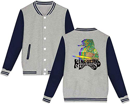 King Gizzard Lizzard Erwachsene Baseball Uniform Jacke Sport Coat L