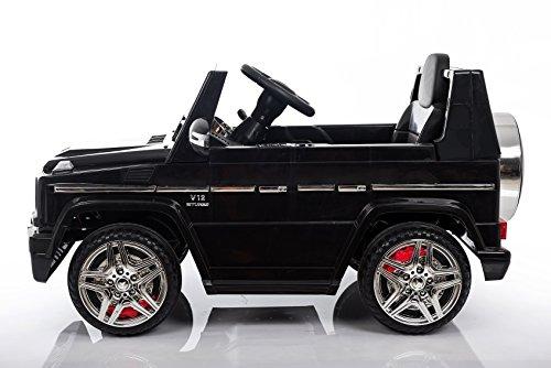 RC Auto kaufen Kinderauto Bild 3: Kaufexpress Mercedes Benz G65 AMG Jeep SUV Kinderfahrzeug Kinderauto Elektroauto Fernbedienung MP3 Anschluss in Schwarz*