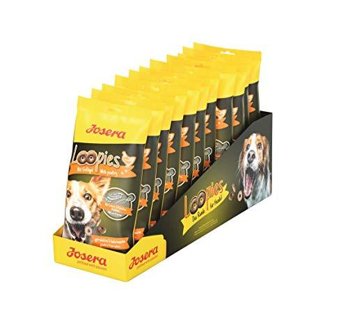 JOSERA Loopies mit Geflügel, getreidefreie Hundeleckerlis mit wenig Fett, Super Premium Qualität ohne Zucker, 11er Pack (11 x 150 g)