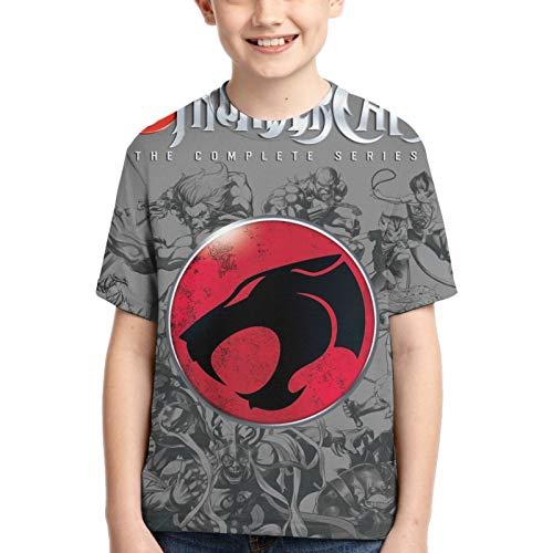 LJSJISDMWQS Thundercats - Camiseta de manga corta para adolescentes con cuello redondo transpirable y cuello redondo