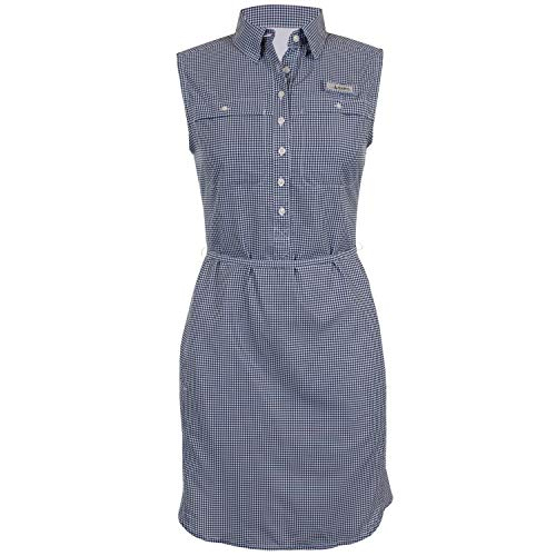 HABIT Women's Sun Ridge River Guide Dress, Patriot Blue Seafarer Check, Medium