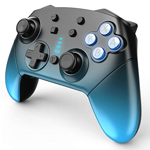 JALVDE Switch Pro Controller for Nintendo Switch Comfortable 1200mAh Long-Time Play Wireless Gamepad Support Motion Control Dual Vibration Turbo Funtion