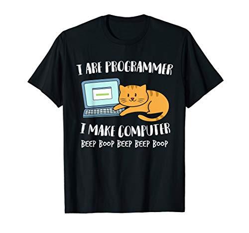 I Are Programmer Programmierer Informatiker Computer Katze T-Shirt