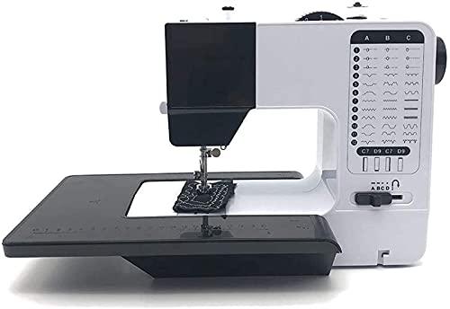 Máquina de coser Portátil Máquina de coser portátil, puntadas de 16 tipos, Máquina de coser eléctrica anticipada con función inversa, ajuste de longitud de puntada, luz, tabla de extensión, fácil de u