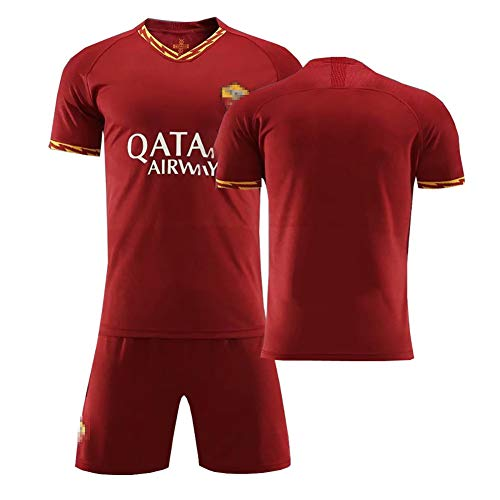 FDSEW 19-20 Saison Totti Nr. 10 Fußballuniformen Trikots, maßgeschneiderte Fußballtrikots, Sportbekleidung für Schüler der Mittelstufe, geeignet für Teamtraining-Redwine-2XL